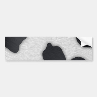 Dairy Cow Print Car Bumper Sticker