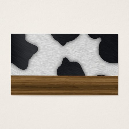 Cow Farm Dairy Cowhide Print Business Cards