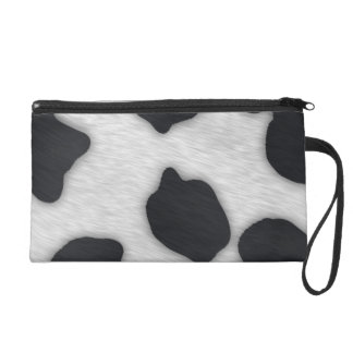 Dairy Cow Print Wristlet