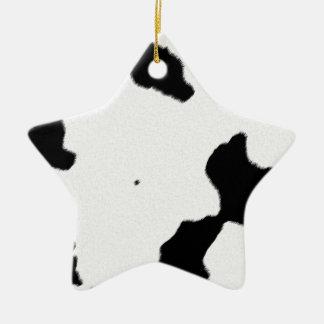 Dairy Cow Skin Ceramic Ornament