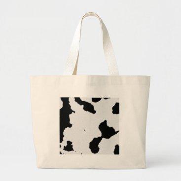 bartonleclaydesign Dairy Cow Skin Large Tote Bag
