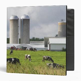 Dairy cows and farm near Taylor County 2 Vinyl Binder