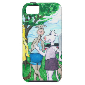 Dairy Cows Wearing Street Clothes iPhone SE/5/5s Case