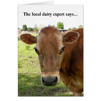 Dairy Expert Greeting card