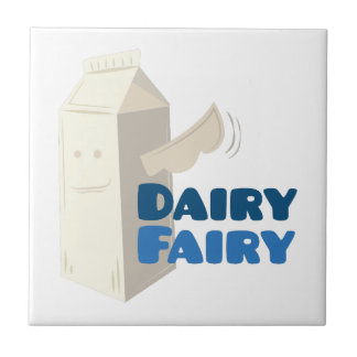 Dairy Fairy Small Square Tile