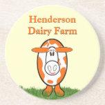 Dairy Farm Cute Cow Coasters