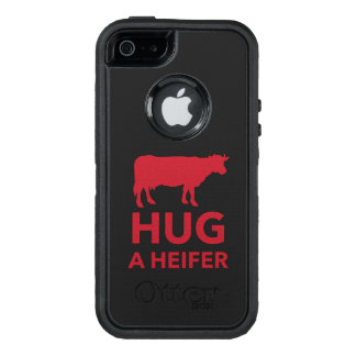 Dairy Farm Hug a Heifer Funny OtterBox Defender iPhone Case