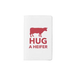 Dairy Farm Hug a Heifer Funny Pocket Moleskine Notebook