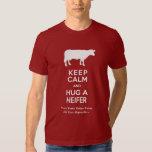 Dairy Farm Keep Calm and Hug a Heifer Funny T-Shirt