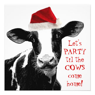 Dairy Farm Staff Christmas Party Personalized Announcements
