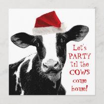 Dairy Farm Staff Christmas Party Invitation