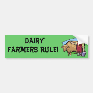 Dairy Farmer Car Bumper Sticker