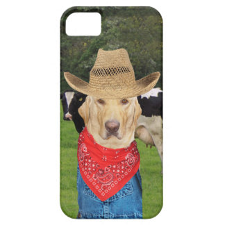 Dairy Farmer Lab/Dog iPhone 5 Cases