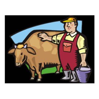 Dairy Farmer Postcard