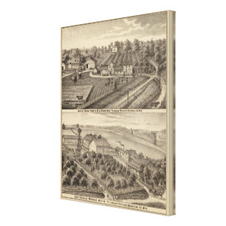 Dairy farms of RS Houston and WC White Canvas Print