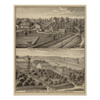 Dairy farms of RS Houston and WC White Poster