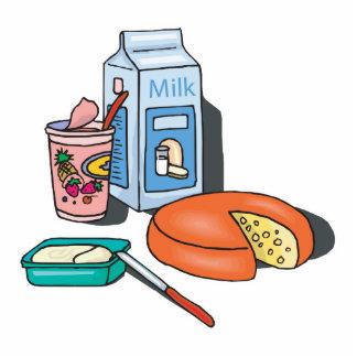 dairy foods standing photo sculpture