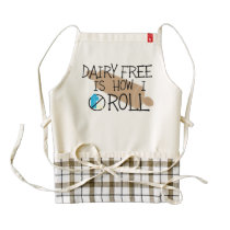 Dairy Free Is How I Roll Allergy Free Bakers Zazzle HEART Apron