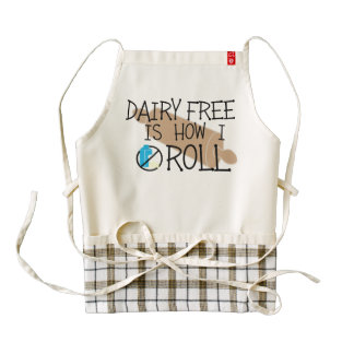 Dairy Free Is How I Roll Allergy Free Chef Apron Zazzle HEART Apron