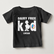 Dairy Free Super Bpy Silhouette Allergy Alert Baby T-Shirt