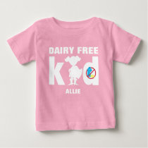 Dairy Free Super Girl Silhouette Allergy Alert Baby T-Shirt