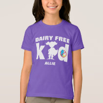 Dairy Free Super Girl Silhouette Allergy Alert T-Shirt