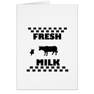 Dairy fresh cow milk card