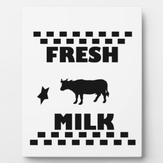 Dairy fresh cow milk plaque