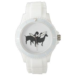 Dairy Goat Silhouette Wrist Watch