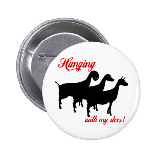 Dairy Goats Pinback Button