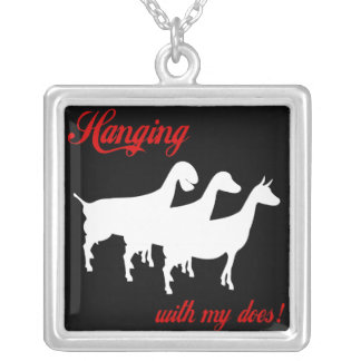 Dairy Goats Silver Plated Necklace