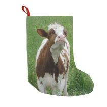 Dairy Milk Cow on the Farm Small Christmas Stocking