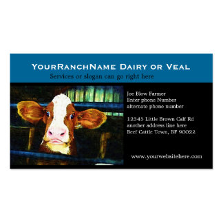 Dairy Operation Veal or Milk Calf Business Card