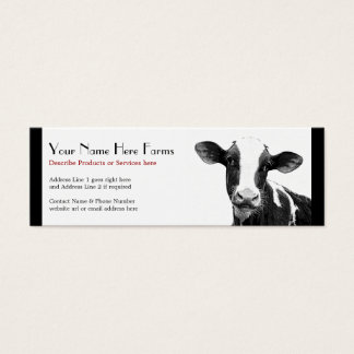 Dairy or Holstein Cattle Ranch Mini Business Card