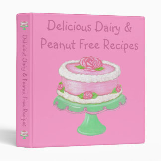Dairy & Peanut Free Recipes~Allergies Cook Book 3 Ring Binder