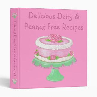 Dairy & Peanut Free Recipes~Allergies Cook Book Binders