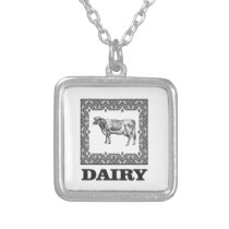 Dairy prize silver plated necklace