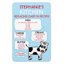 Dairy Substitutes for Baking Kitchen Chart Magnet