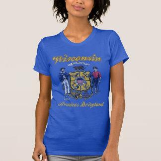 Dairyland de América de la bandera de Wisconsin Playeras