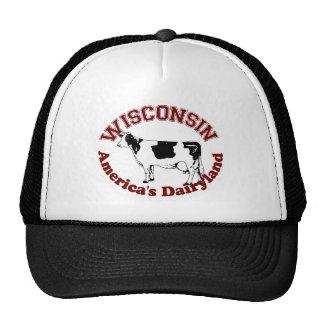 Dairyland de Wisconsin América Gorras De Camionero