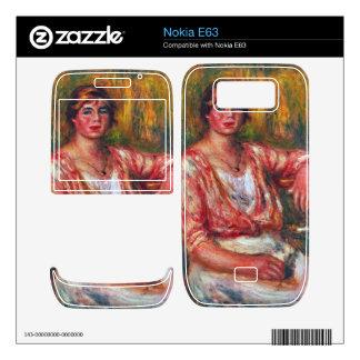 Dairymaid by Pierre Renoir Nokia E63 Decals