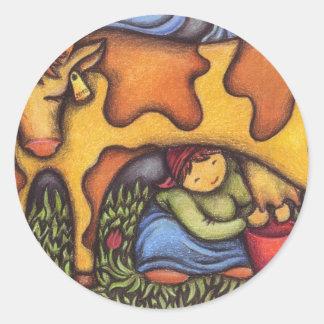 dairymaid classic round sticker
