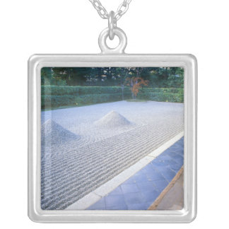 Daisen-in Temple Garden, Daitokuji, Kyoto, Japan Silver Plated Necklace