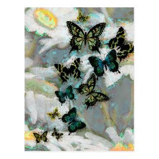 Daises and Butterflies Postcard