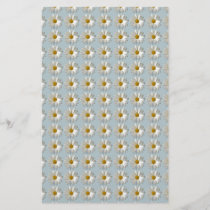 Daises Daisy white blue gold pattern background