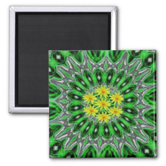 Daises in Emerald Green Magnet