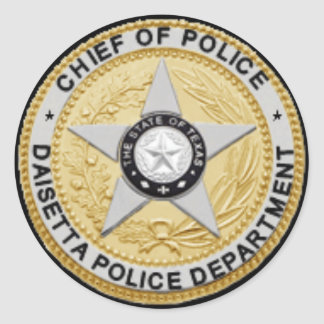 Daisetta Police Department Badge Sticker