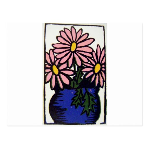 Daisies0140 rosado postal