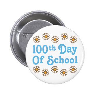 Daisies 100th Day Of School Teacher Gift Pinback Button