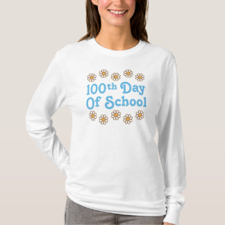 Daisies 100th Day Of School Teacher Gift T-Shirt